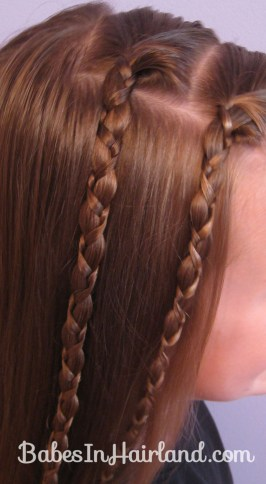 Quick & Easy Uneven Braids Hairstyle (1)