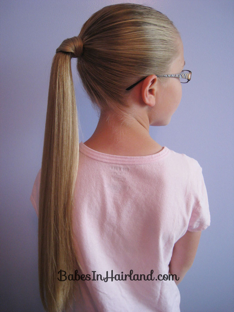 Ponytail without hair band - Hair Wrapped Ponytail 2