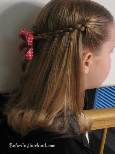 Simple 4 Strand Pullback Hairstyle (2)