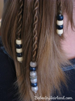 How to add beads to the ends of braids (14)