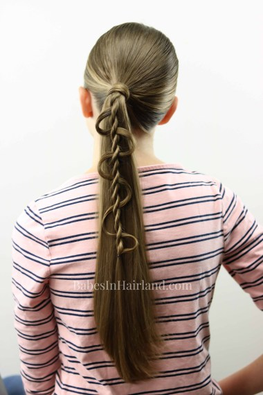 Dress up your ponytail with this cool weaving twist from BabesInHairland.com | hair | hairstyle | rope twist | summer hairstyle