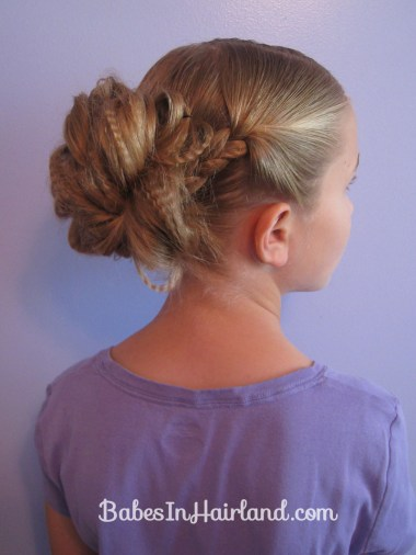 Crimped Braids and Messy Bun (1)