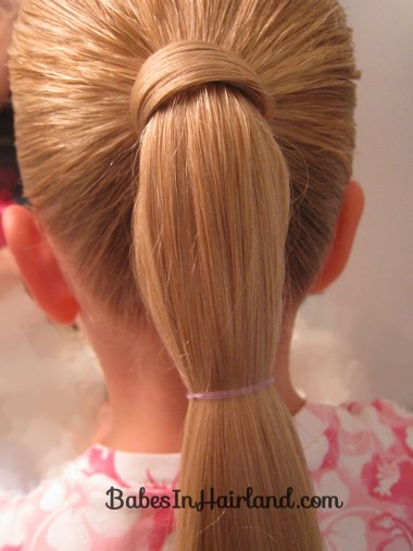 Hair Wrapped Bubble Ponytail (3)