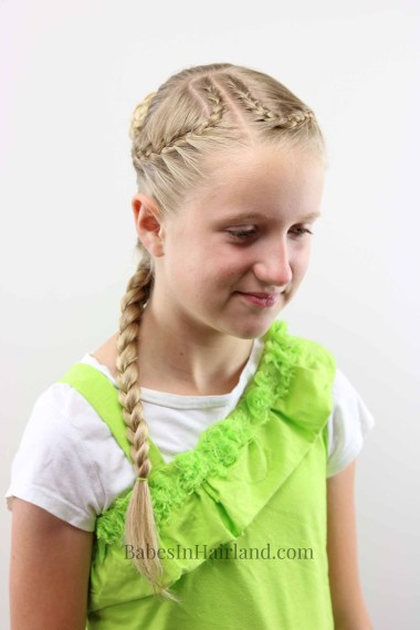 Perfect for hot or cold temps, this French Braids & Knotted Bun hairstyle is perfect for keeping your hair contained. BabesInHairland.com | braids | hair