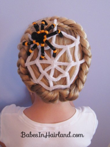 Spiderweb Hairstyle | Halloween Hairstyles (10)