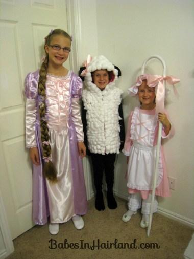 Rapunzel, Little Bo Peep & her Sheep Costumes