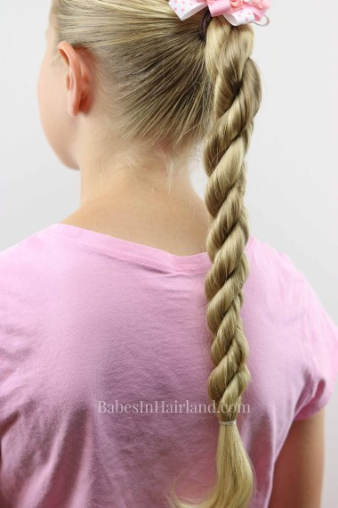 Try a TRIPLE TWIST for a quick back-to-school style. 3 Twists hold up great and are perfect for sports too! BabesInHairland.com