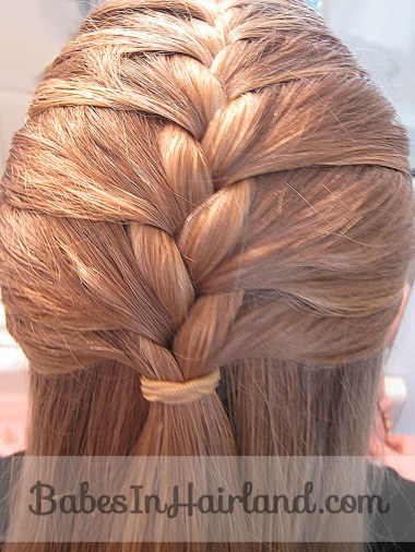 French Braid into a Fishbone Braid from BabesInHairland.com (1)
