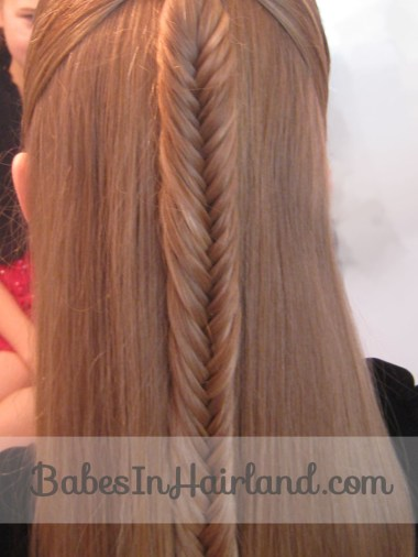 French Braid into a Fishbone Braid from BabesInHairland.com (4)