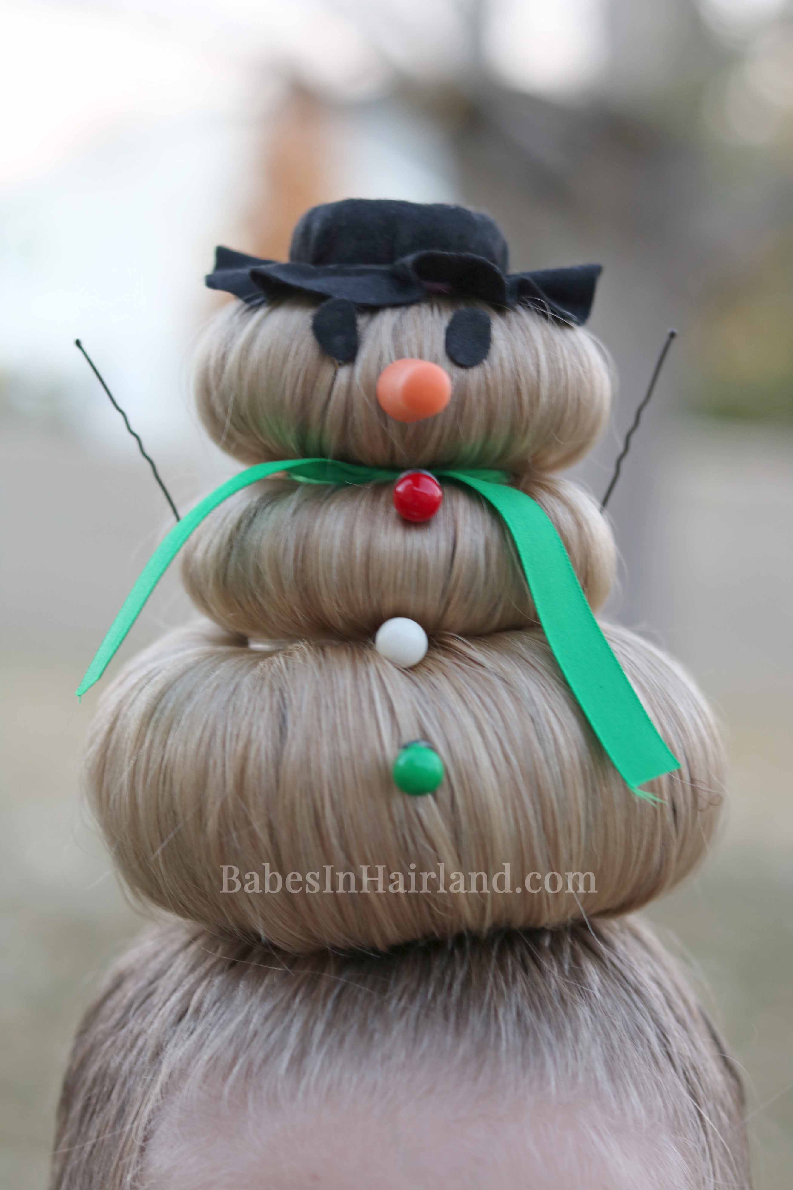 Snowman Hairstyle For Crazy Hair Day Or Christmas