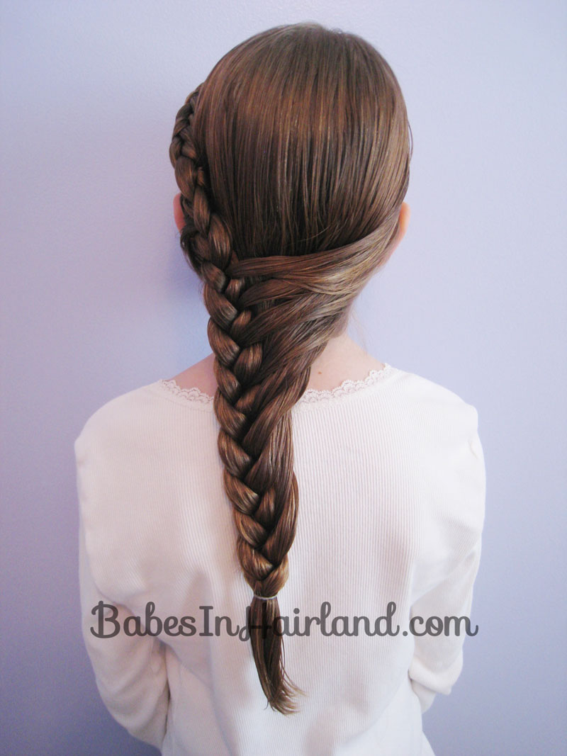 half french braid hairstyle babes in hairland