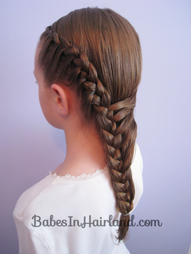 It39s Like A French Braid Except You Add Hair On Only The Right Side