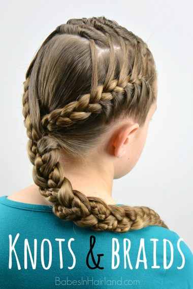 Knots and Braids from BabesInHairland.com #hair #braids #frenchbraids #knots