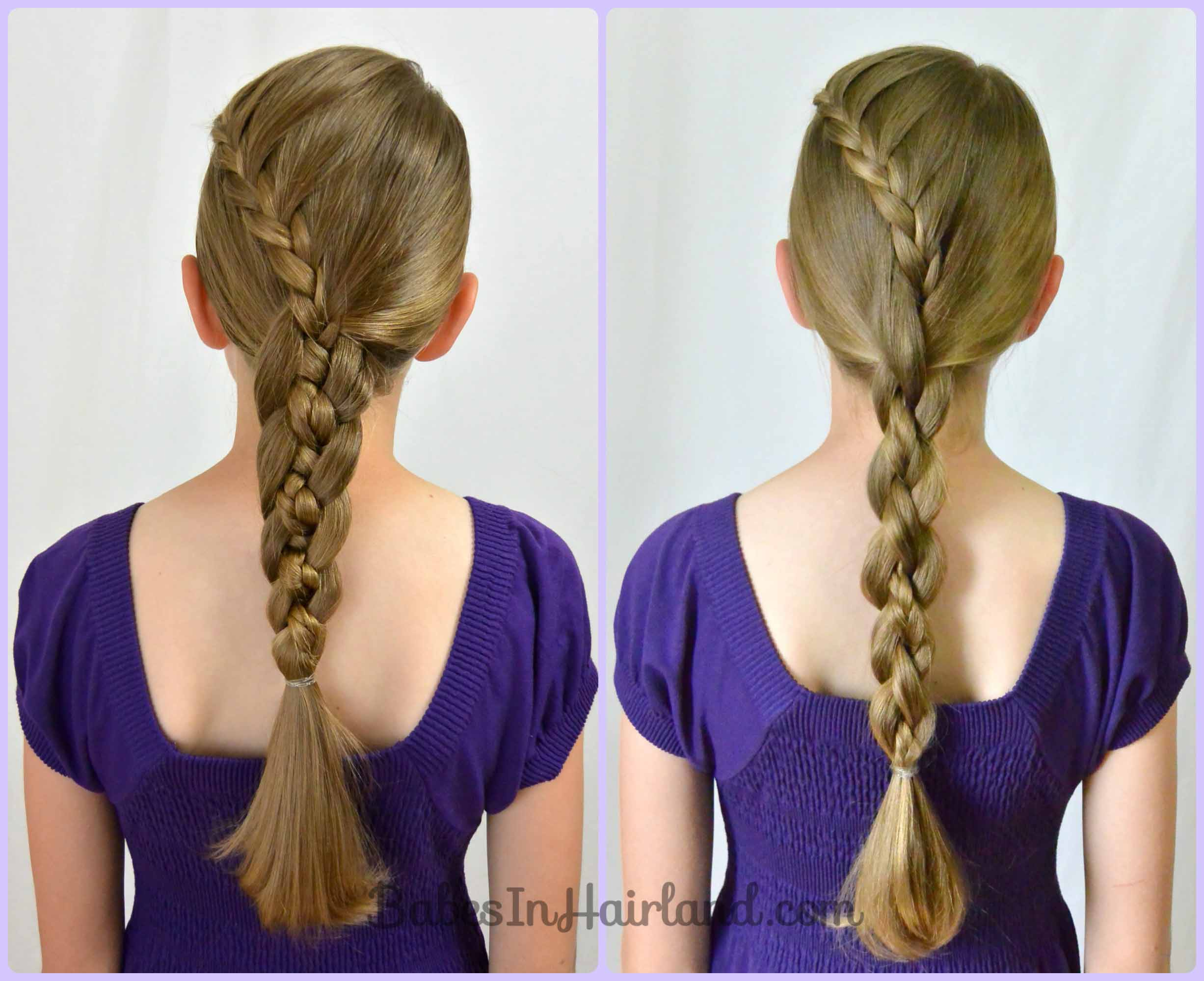 Tremendous Lace Braid Into A 4 Strand Braid Babes In Hairland Hairstyle Inspiration Daily Dogsangcom