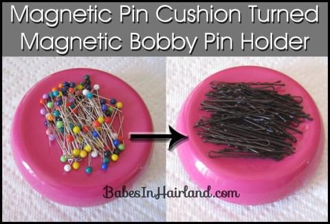 Bobby Pin Storage - Magnetic Pin Cushion