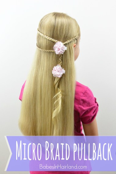 Micro Braid Pullback from BabesInHairland.com | microbraid | braids | hair | hairstyle
