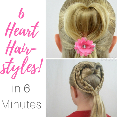 6 Heart Hairstyles in 6 Minutes | Valentine's Day