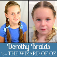 Dorothy Gale Braids | Halloween Hairstyle