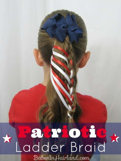 Patriotic Ladder Braid from BabesInHairland.com (1)