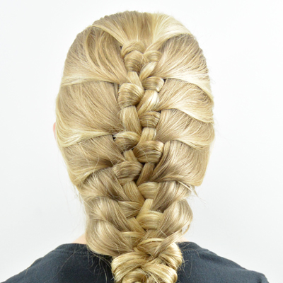 French Knotted Fishbone Braid