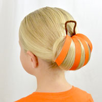 Pumpkin Bun | Halloween Hairstyle