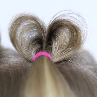 Topsy Tail Hearts | Valentine's Day Hairstyle