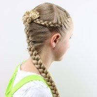 French Braids and Knotted Bun