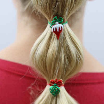 Christmas Bubble Ponytail & 2017 Christmas Card