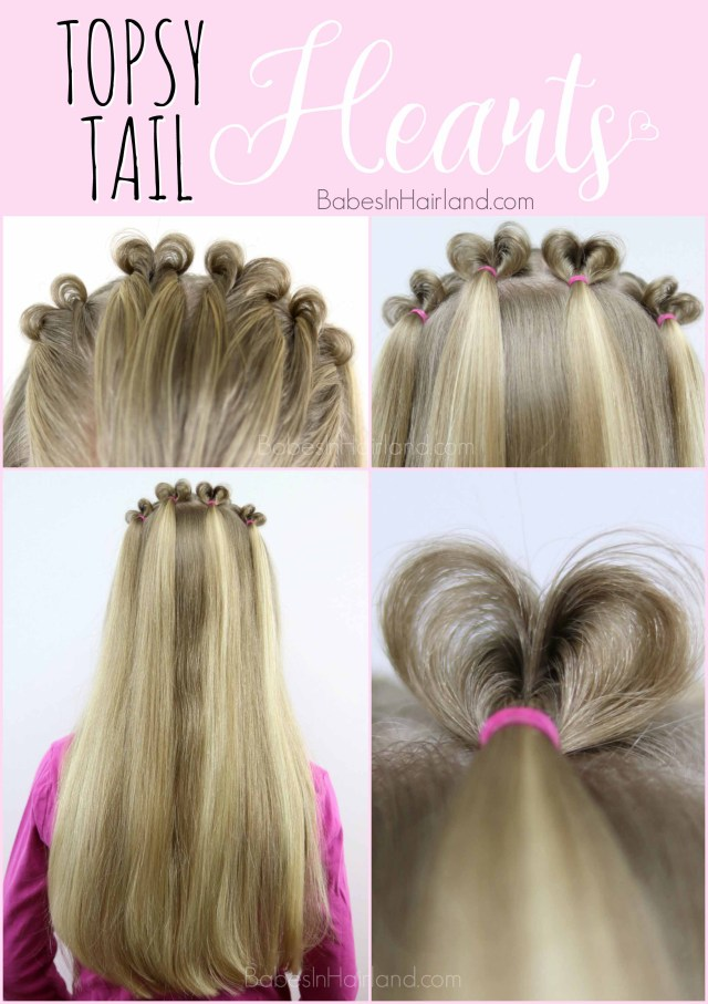 topsy tail hearts | valentine's day hairstyle - babes in
