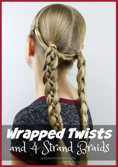 For windy fall days, try this wrapped twists & 4 strand braids hairstyle from BabesInHairland.com #hair #hairstyle #braids #twists #4strandbraids