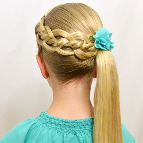 4 Strand Braid With A Micro Braid Babes In Hairland