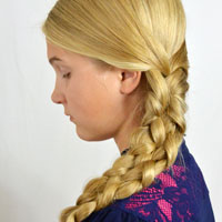 Cheater or Faux 5 Strand Braid