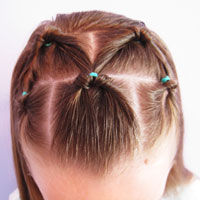 Bang Pull Back | 5 Flipped Ponytails