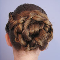 Braid & Knotted Bun Updo