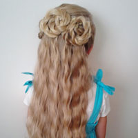 Triple Twisted Half Updo