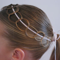 Ribbon and Chains Hairstyle