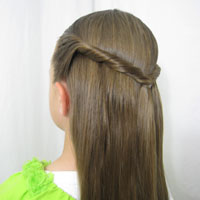 Easy Twisted Pullback Hairstyle