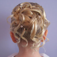 Feather Braided Bun #2
