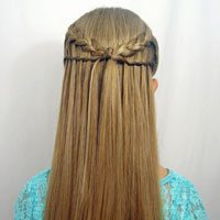 Feather Braid & Waterfall Twist