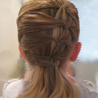 Fancy row of ponytails (9)