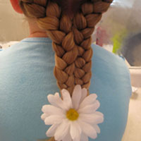 2 Braids into 1 Hairstyle