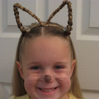 Cat Ears Using Your Own Hair | Halloween
