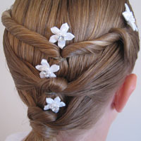 Baptism Hairstyle – Twists & Knots