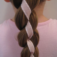 4 Strand Braid with Ribbon in It #2