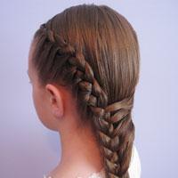 Half French Braid Hairstyle