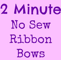 2 Minute No Sew Ribbon Bows
