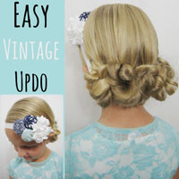 Easy Vintage Updo