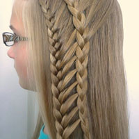 Double Half French Ladder Braids