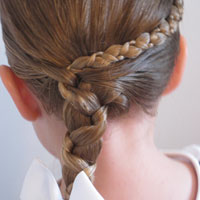 Uneven Accent Braid into an Uneven Side Braid