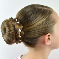Ribbon Braid Wrapped Sock Bun
